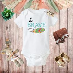 Be Brave Little One Boho Baby Clothes Baby Shower by BohoBabyNest