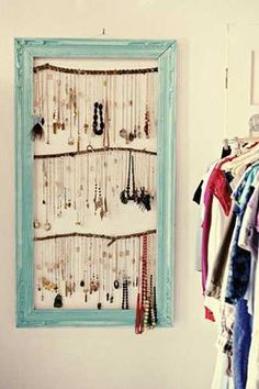 recycling window frame for bedroom organizer and wall decoration