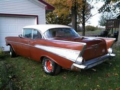 Bel Air Car, 1957 Chevy Bel Air, 1957 Chevrolet, Vintage Cars, Antique Cars, Impalas, Oldies But Goodies, Art Cars, Custom Cars