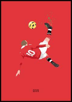 Football Posters by Dan Leydon, via Behance