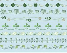 Digital Flourish Swirl, Instant Download, Digital Border, Flower Border Clipart, Green, Leaf, Leaves, Floral, Ivy, Digital Graphics c095