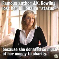 JK Rowling and charity