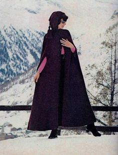 Beautiful full length cape is crocheted in afghan stitch, has a hood and arm openings, buttons in front with button pattern included and has an