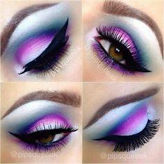 Blue White and Purple Eyeshadow