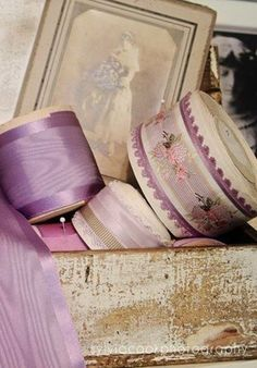 Wonderful Ribbon Embroidery Flowers by Hand Ideas. Enchanting Ribbon Embroidery Flowers by Hand Ideas. Lavender Cottage, Lavender Color, Silk Ribbon Embroidery, Lace Ribbon, Shades Of Violet, Wallpaper Aesthetic, Malva, Passementerie, All Things Purple