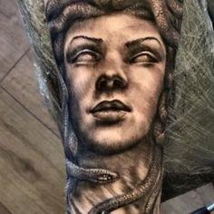 Medusa tattoo by Justyna Kurzelowska