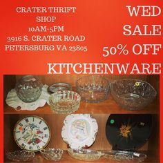 So many #glass options - these #bowls as well as #punch sets and every style of #glassware drinking types imaginable!     #dinnerparty #holidayentertaining #vintagedining #vintagekitchen #charityshop #whybuynew #kitchenware #dining #buylocal #shoplocal #thriftstore #thriftshop #hopewellva #petersburgva #colonialheights #chesterfield #rva #804 #summer #shopping