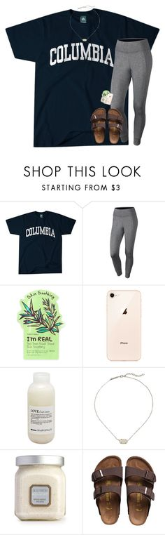 """umm rtd for quick rant"" by katie-riley1 ❤ liked on Polyvore featuring Columbia, NIKE, TONYMOLY, Davines, Kendra Scott, Laura Mercier and Birkenstock"