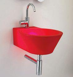 #Waschbecken rot, #basin #red, #Designwaschbecken