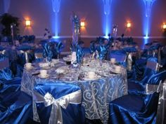 Black White Silver Royal Blue Wedding Bold By Design Banquet