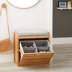 small mudroom bench with storage . Small Bench, Bench With Shoe Storage, Shoe Storage Ideas For Small Spaces, Small Entryway Storage Bench, Bench Mudroom, Entryway Shoe Storage Bench, Small Entryway Organization, Storage Bench With Cushion, Entryway Bench Storage
