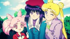 Chibiusa, Hotaru, & Usagi fanart (Season 3 / Sailor Moon S 90's )