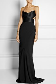 Narciso Rodriguez http://www.net-a-porter.com/product/444394/Narciso_Rodriguez/cutout-silk-satin-and-georgette-gown