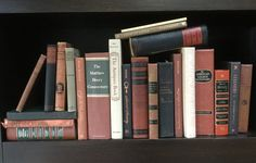 Collection of 23 vintage books for book case display rust/ black / army green decorators lot by Hannahandhersisters on Etsy