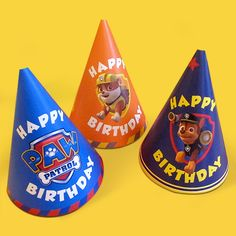 Have a barking ball with these party hats! Birthday Party Hats, First Birthday Parties, Boy Birthday, Birthday Ideas, Paw Patrol Birthday Theme, Paw Patrol Party, Insignia De Paw Patrol, Happy Paw, Unicorn Party
