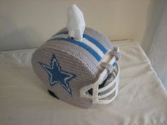 Dallas Cowboys Tissue Box Cover - also available for other professional and school teams! Email shiloh300@ aol.com for more information!