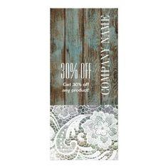 elegant rustic country white lace blue barn wood rack card - elegant gifts gift ideas custom presents