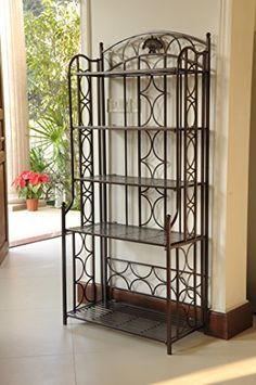 5Tier Iron IndoorOutdoor Bakers Rack *** undefined #KitchenDiningRoomFurnitures