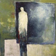 """""""Void of Extraneous Conditions,"""" Acrylic and Combined Media on Stretched Canvas Figure Painting, Figure Drawing, Paintings I Love, Artist Gallery, Life Drawing, White Art, Contemporary Paintings, Figurative Art, Painting Inspiration"""