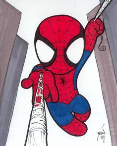 DeviantArt: More Artists Like Chibi-Spider-Man by hedbonstudios Spiderman Chibi, Spiderman Tattoo, Chibi Marvel, Spiderman Art, Marvel Dc Comics, Baby Spiderman, Spiderman Drawing, Chibi Characters, Marvel Characters