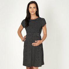 Red Herring Maternity Online exclusive black polka dot jersey maternity dress- at Debenhams.com £28