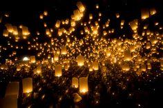 Floating lanterns always remind me of Tangled. #photography