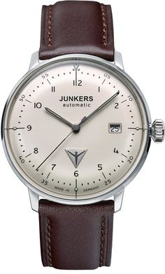 Junkers Watch Bauhaus #2015-2016-sale #bezel-fixed #black-friday-special #bracelet-strap-leather #brand-junkers #case-depth-11mm #case-material-steel #case-width-40mm #classic #date-yes #delivery-timescale-1-2-weeks #dial-colour-cream #gender-mens #movement-automatic #official-stockist-for-junkers-watches #packaging-junkers-watch-packaging #sale-item-yes #style-dress #subcat-bauhaus #supplier-model-no-6056-5 #vip-exclusive #warranty-junkers-official-2-year-guarantee #water-resistant-30m