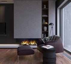 Black bedroom. on Behance