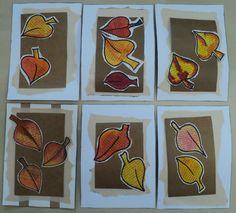 Padající listí - anilinové barvy