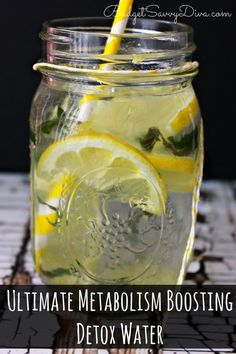 Wanting help dropping some pounds? This detox water is AMAZING - 3 different ingredients to help increase your metabolism  - #metabolism #workout #skinny #detox #water #detoxwater #glutenfree #recipe #drink #budgetsavvydiva via budgetsavvydiva.com Ultimate Metabolism Boosting Detox Water Recipe