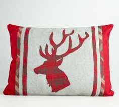 Wool Reindeer Pillow
