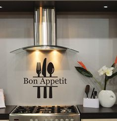 Kitchen Decal Wall Sticker Bon Appetit by MulberryCreek on Etsy, $27.95