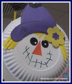photo of: Paper Plate Scarecrow in Kindergarten via RainbowsWithinReach