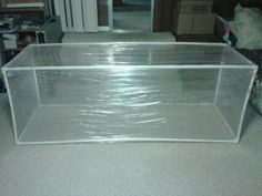 Homemade greenhouse using PVC and shrink wrap. D. & T.George made.