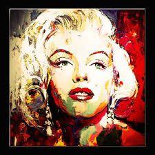 Resultado de imagen para pinturas de marilyn Monroe