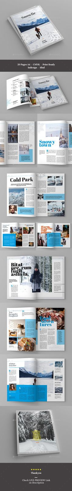 LIVE PREVIEW  This #Magazine Template is made to easier your job, simply #change images and texts and #place it with your own Cool Magazine, Change Image, Magazine Template, Templates, Texts, Editorial, Free, Ideas, Stencils
