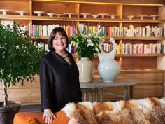 The Barefoot Contessa'shome cookbook library was designed to inspire.