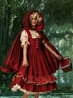 Little Red Riding Hood by TimeAfterTimeDesigns on Etsy, $525.00