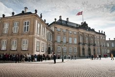 Amalienborg Palace in Copenhagen, one of Denmark's many royal residences, is made up of four identical palatial buildings.