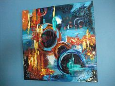 """Galactic Dream"" 2015 Acrylic Abstract Inspired by OsnatFineArt"