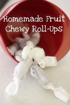 I first found this recipe in the latest issue of Martha Stewart Living. We were really excited to try these fruit chewy roll-ups...especially since
