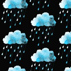 Icey Rain fabric by bddesign on Spoonflower - custom fabric