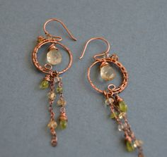 A personal favorite from my Etsy shop https://www.etsy.com/listing/508468272/citrine-and-peridot-antique-copper