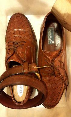 STANLEY BLACKER. my beautiful wabi sabi woven vamp brown leather lace-up.  beat 83b047afa