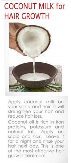 Coconut Milk for Hair Growth #natural #coconutmilk #hair