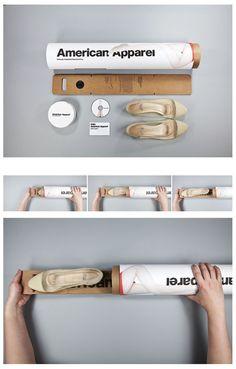 American Apparel Sustainable Packaging by Jiajie Roger Wang, San Francisco Clever Packaging, Innovative Packaging, Paper Packaging, Brand Packaging, Packaging Design, Branding Design, Fruit Packaging, Product Packaging, Packaging Ideas