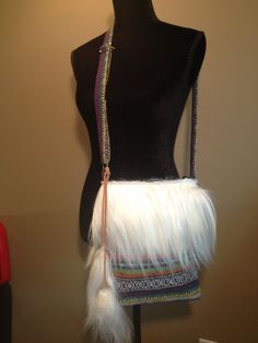 """Modified store made.""""Martina"""" is a bohemian style fabric dressed with white goats fur and fur tassles Furs, Bohemian Style, Women Accessories, Store, Goats, Fabric, Tassels, How To Wear, Clothes"""