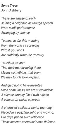 """Some Trees"" - John Ashbery"