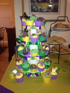 Custom Mardi Gras Themed Cupcake Tower Stand