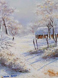 La neige, paysages contés par l'Artiste Franck Carron, l'artiste impressionniste du XXI siècle